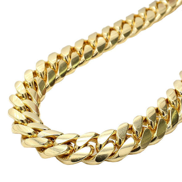 10  MM CUBAN LINK CHAIN (14k Gold) MEDIUM