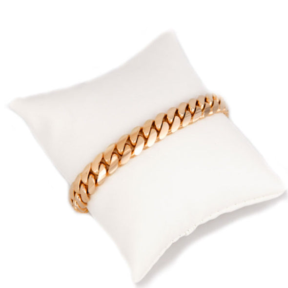 8 MM Rose Gold Cuban Link Bracelet  (10k Gold) THIN