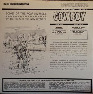 The Sons Of The New Frontier ‎– Cowboy: Songs Of The Roaring West