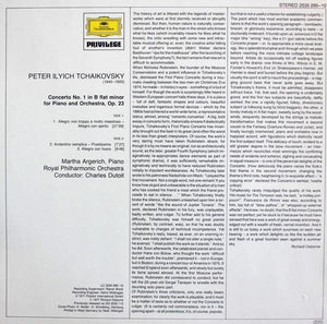 Tchaikovsky* — Martha Argerich · Charles Dutoit - Royal Philharmonic Orchestra* ‎– Piano Concerto No. 1 In B Minor For Piano And Orchestra,Op. 23