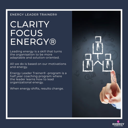 Energy Leader Trainer® Program. Leading energy. Energia johtaminen. Energiavalmennus Oy.