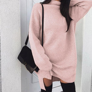Women Casual Oversize Sweater Pull Femme Pullovers Long Sleeve 2019 Autumn Winter Loose Pullover Turtleneck Sweater