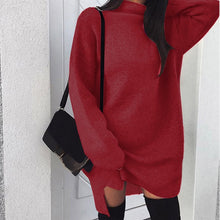 Charger l'image dans la galerie, Women Casual Oversize Sweater Pull Femme Pullovers Long Sleeve 2019 Autumn Winter Loose Pullover Turtleneck Sweater