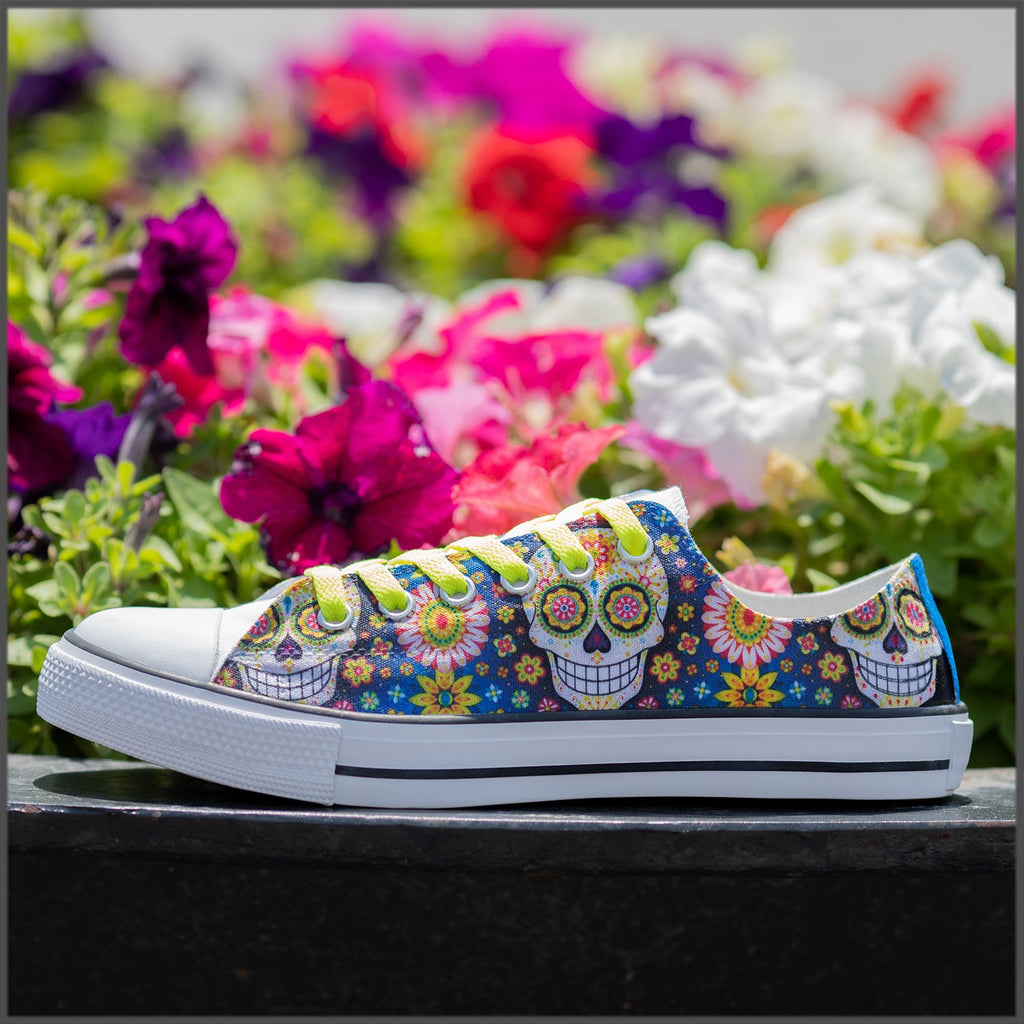 Tenisi Printati Low Top - Hippie Skull