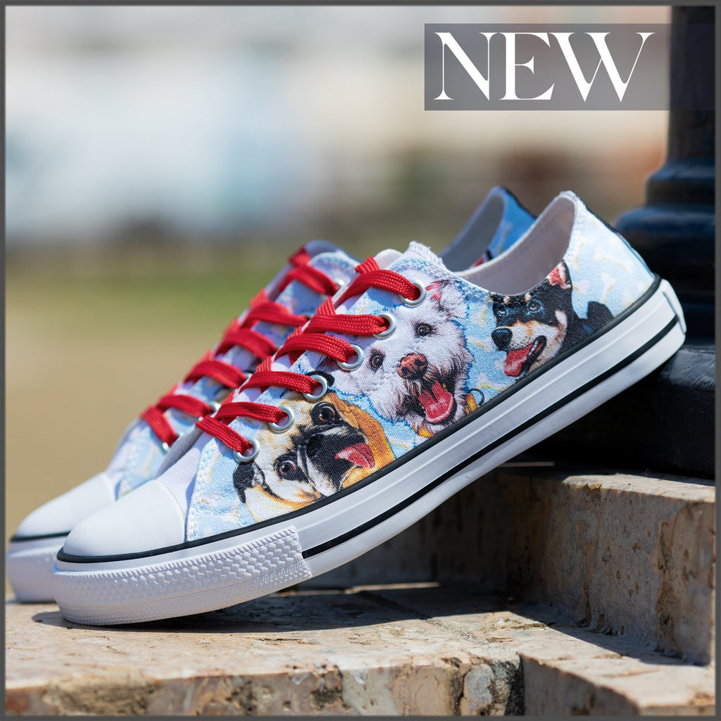 Tenisi Printati Low Top - Funny Dogs