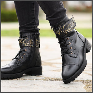 Ghete Pictate Manual Wings Boots