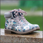 Ghete Pictate Manual Iced Flowers Boots