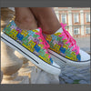 Tenisi Printati Low Top - Cattitude Multicolori