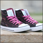 Tenisi High Top Pictați Manual - Galactic Wine