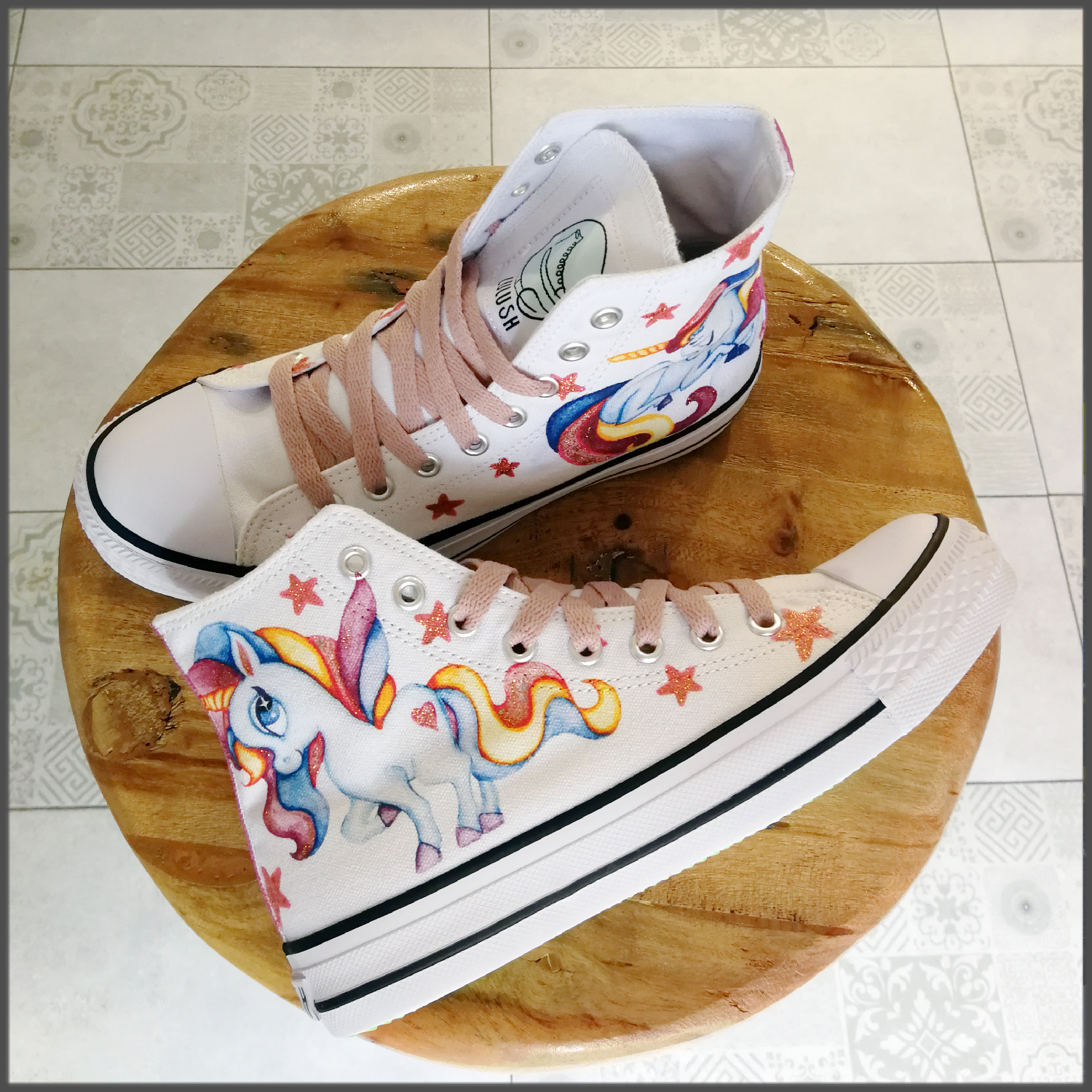 Tenisi High Top Printati - Magic Unicorns