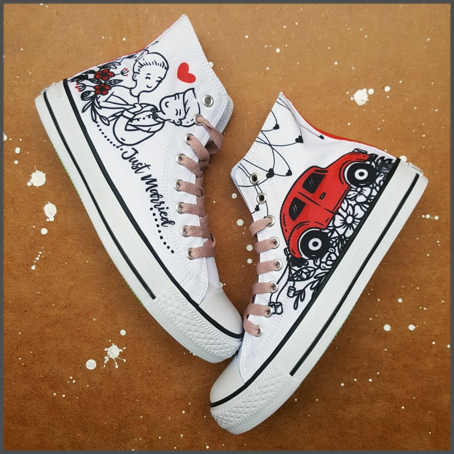 Tenisi High Top Printati - Just Married 2