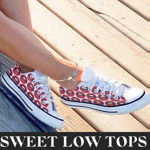 Tenisi Printati Low Top - Lips
