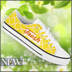 Tenisi Printati Low Top - Fresh Lemon