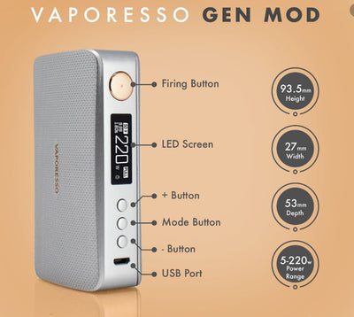 Vaporesso GEN and Gen S TC Box Mod 220W
