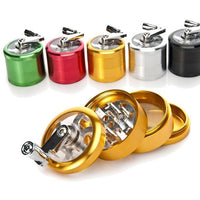 DRY HERB GRINDER-4 layers Metal Aluminum Herb Grinder with Handle