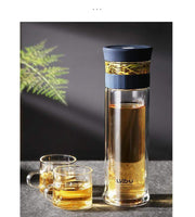 Business Glass Water Bottle with Tea Infuser