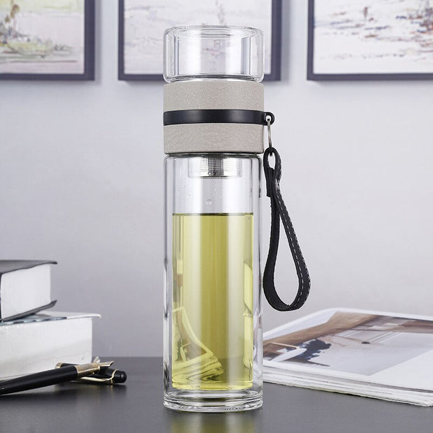 Rudia Double Glass Wall with Tea Infuser