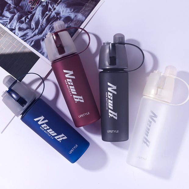 Sport Spray and Cooling Water Bottle