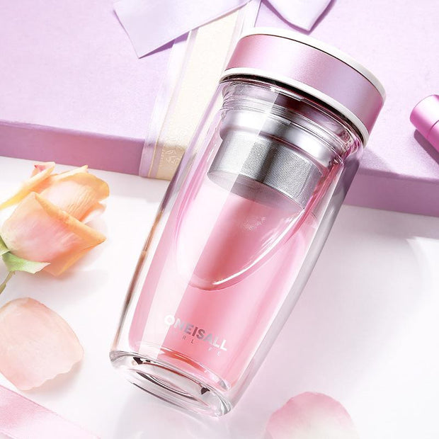 Double Glass Water Bottle | ForYouBottle - Foryoubottle