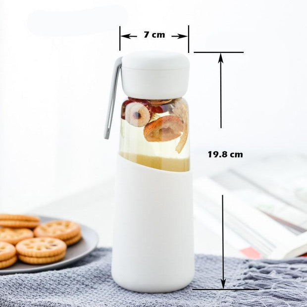 Women Glass Water  Bottle with Silicone Cover | ForYouBottle - Foryoubottle