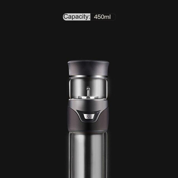 Andipla Double Wall Glass Water Bottle