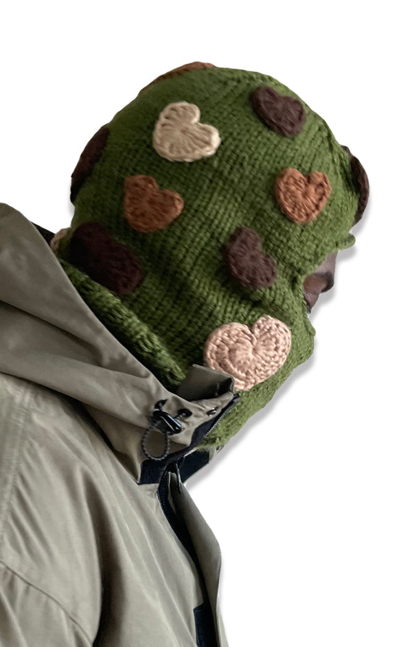 """HEARTY"" BALACLAVA - (OLIVE)"