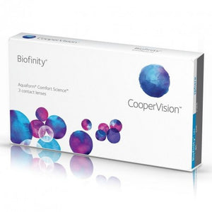 Lentilles Coopervision Biofinity - Mensuelles - Silicone Hydrogel