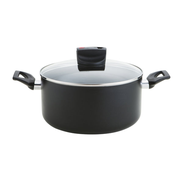 Prestige Steam Release hob to oven casserole dish, with vent in the lid to safely release steam