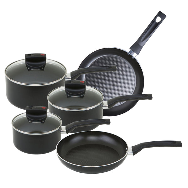 Steam Release 5 piece pan set from Prestige. Packed with safe cook features