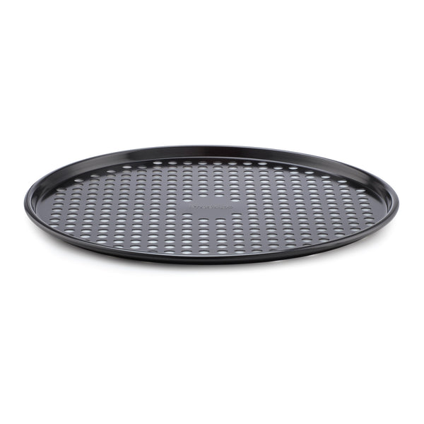 Prestige's Inspire non stick pizza oven tray - the perfect pizza crisper for take-away style pizzas at home!