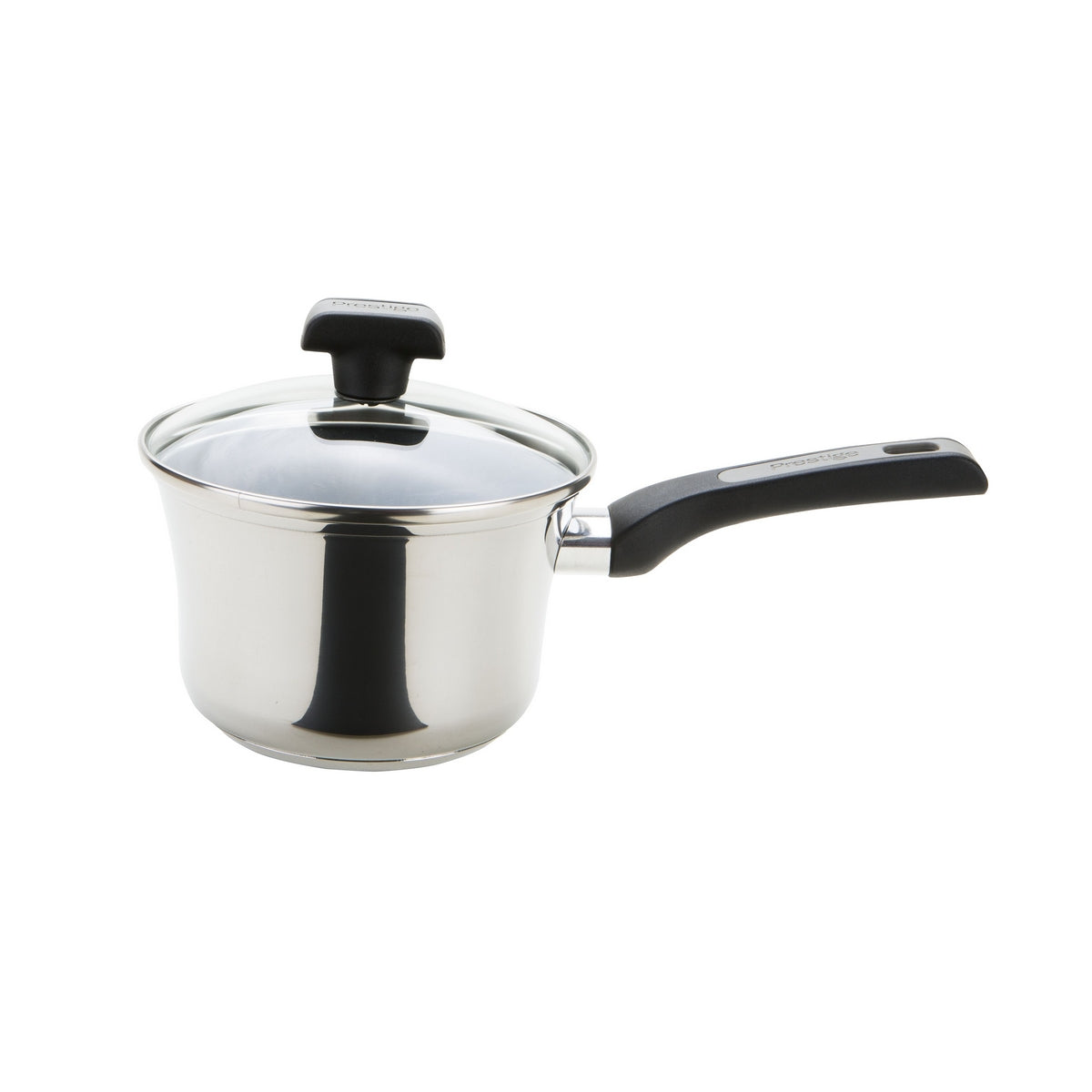 An image of Classic Non-Stick Stainless Steel Saucepan 18cm