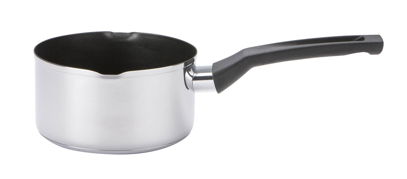 Cook & Strain Stainless Steel Non-Stick Milk Pan
