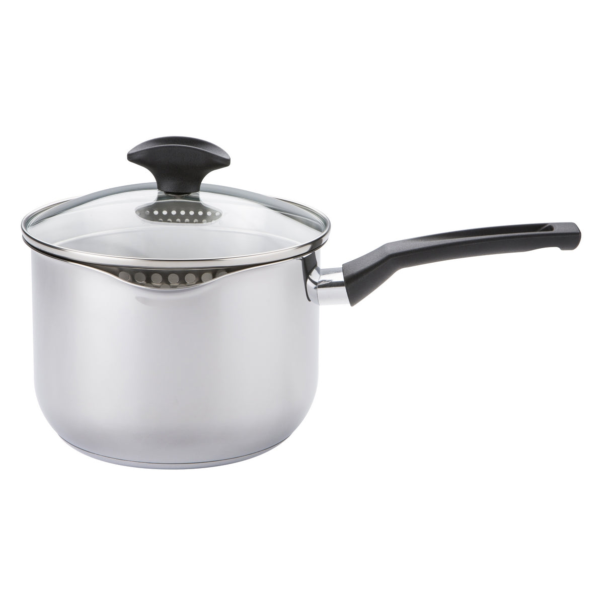 An image of Cook & Strain Stainless Steel Saucepan 16cm