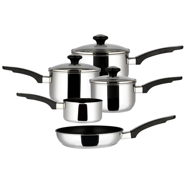 5 Piece Everyday Stainless Steel Pan Set