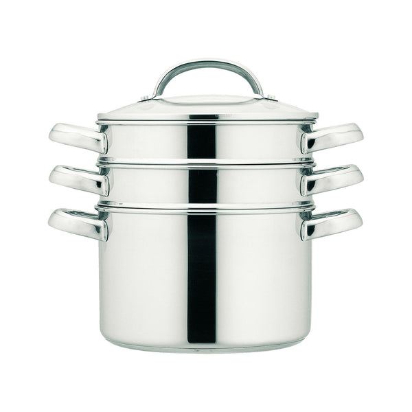 Prestige Cook & Strain 3 tier steamer - perfect for steaming veg & fish. Stainless steel steamer gives long lasting durability
