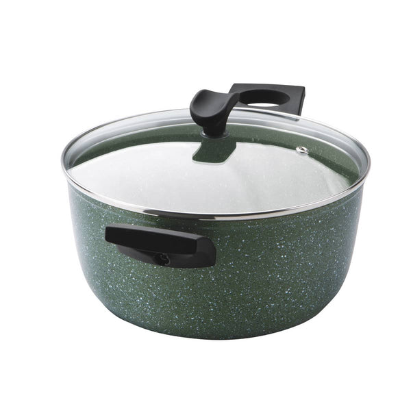 Prestige Eco stock pot for induction hob. PFOA free pan. Scratch proof plant based non stick