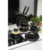 Prestige Steam Release Non Stick Saucepan Set includes 3 saucepan sizes. There is also a wok with lid & casserole dish available to complete the set