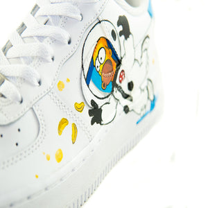 "Sneakers ""Gold Pieces Homer"""