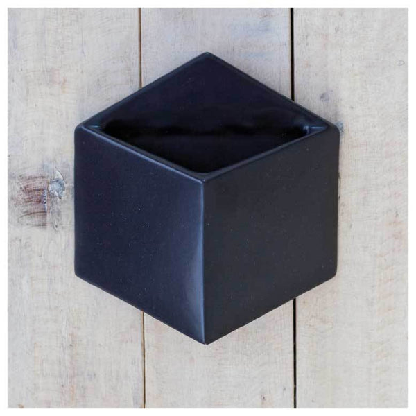 Pocket Black Wall Planter