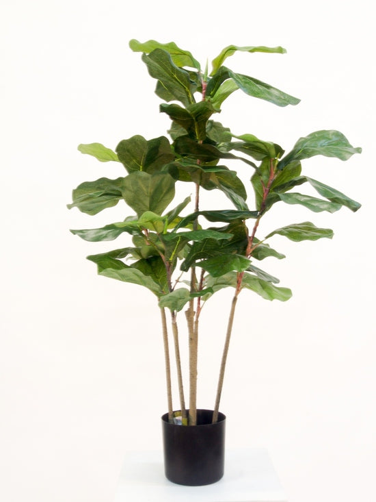 Potted Fiddle Leaf Faux Plant