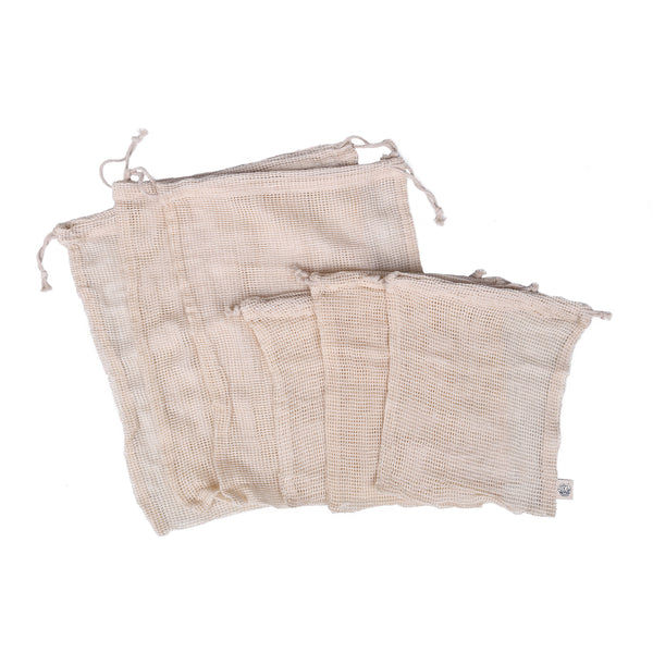 Produce Bags Organic Cotton 6pk