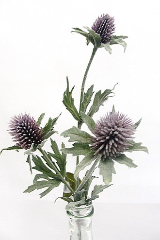 Thistle Spray Purple Faux Plant