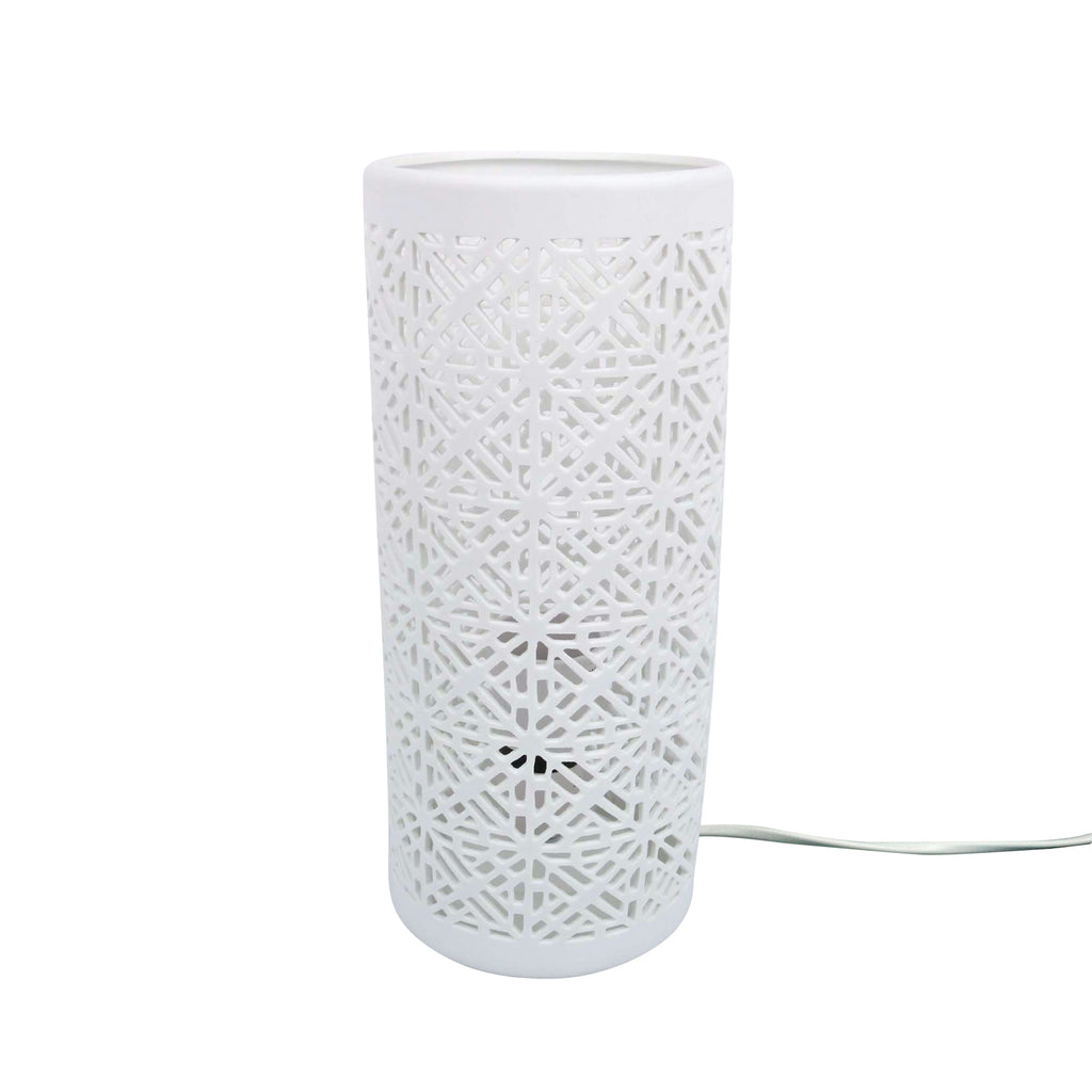 Table Lamp Geo Pattern