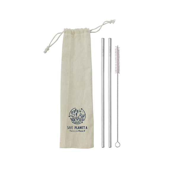 Two Straw Travel Set