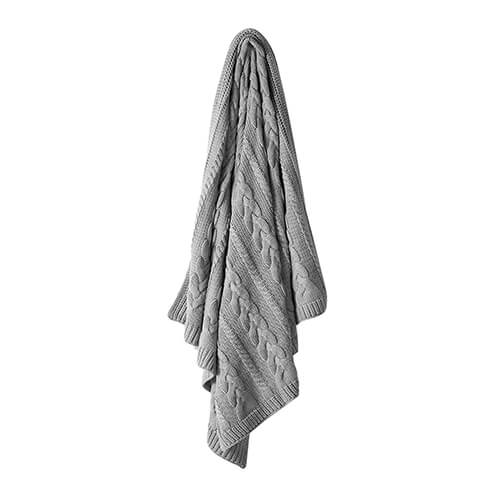 Aura Jumbo Cable Knit Grey Marle Throw