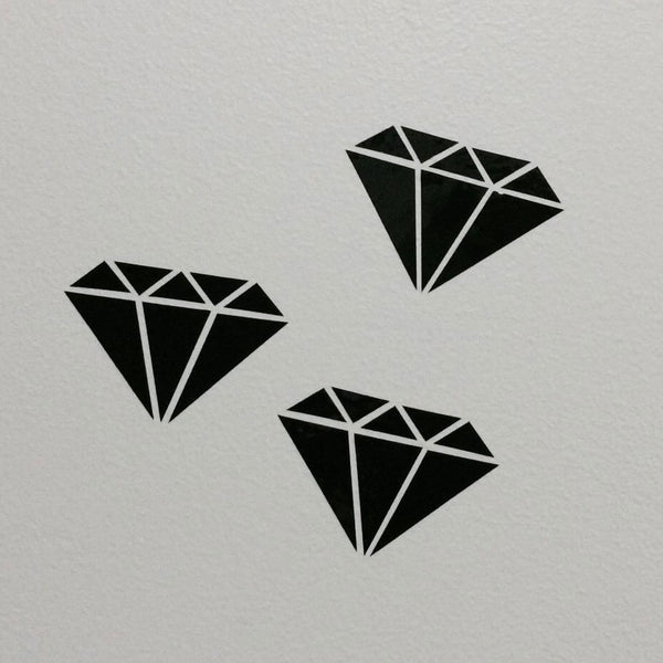 Wall Decals Black Diamonds