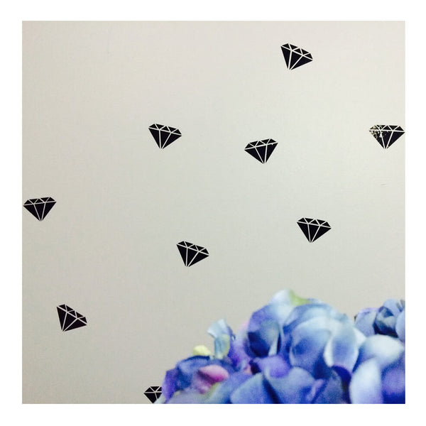 Black Diamonds Wall Decals