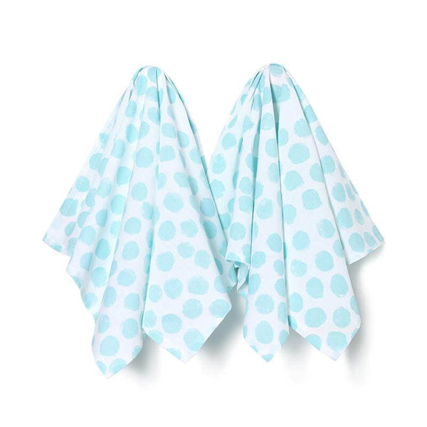 Tea Towel Blue Jumbo Polka Dot