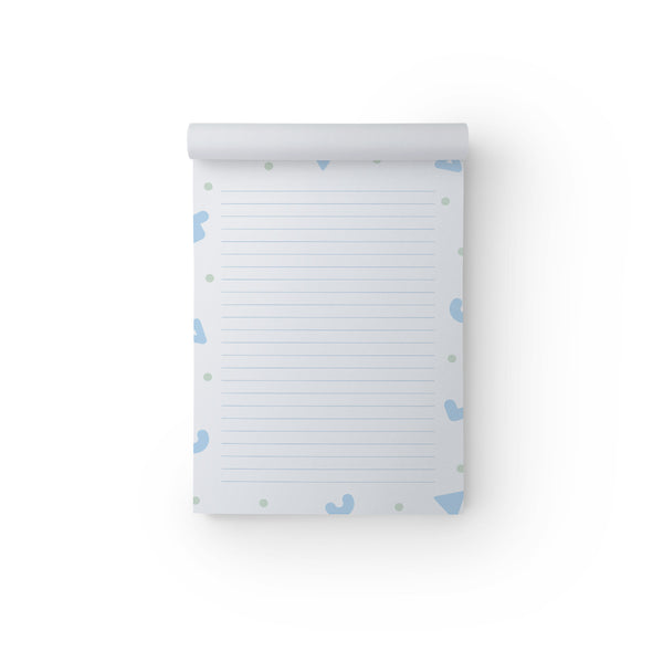 Notepad Blue Shapes A5