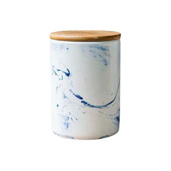 Blue Vein Porcelain Medium Canister